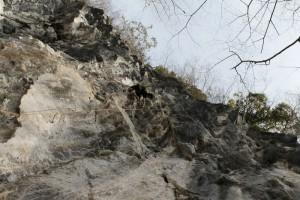 備中の岩場
