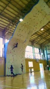 新設リード壁を登る
